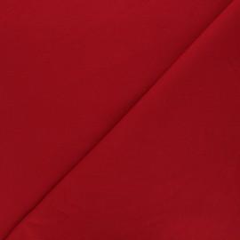 Tissu sweat léger Uni - rouge foncé x 10cm
