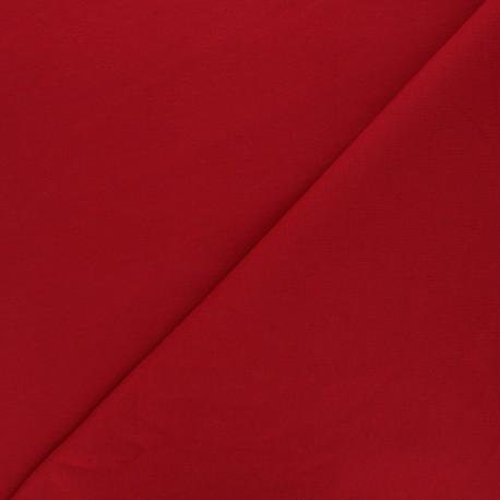 Plain french terry fabric - dark red x 10cm