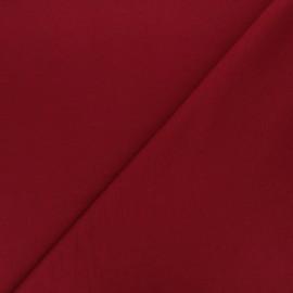 Plain french terry fabric - burgundy x 10cm
