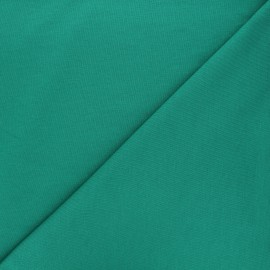 Plain french terry fabric - grass green x 10cm