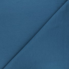 Plain french terry fabric - swell blue x 10cm