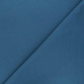 Tissu sweat léger Uni - bleu houle x 10cm