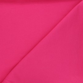 Plain french terry fabric - fuchsia pink x 10cm