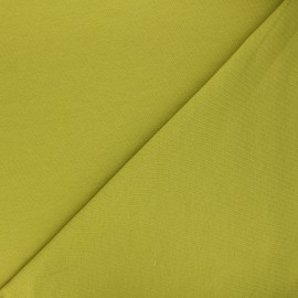 Plain french terry fabric - anise green x 10cm