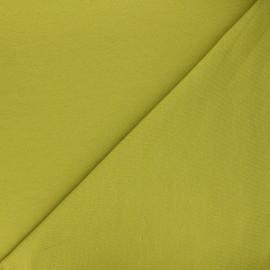 Tissu sweat léger Uni - vert anis x 10cm