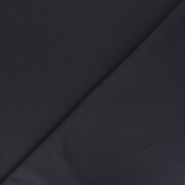 Plain french terry fabric - anthracite grey x 10cm