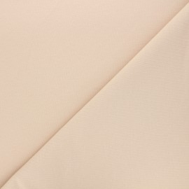 Plain french terry fabric - beige x 10cm