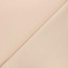 Tissu sweat léger Uni - beige x 10cm