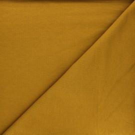 Plain french terry fabric - ochre x 10cm