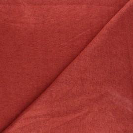 Tissu maille tricot Windy - terracotta x 10cm