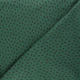Tissu sweat Poppy Stripes - vert x 10cm
