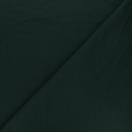 Plain french terry fabric - pine green x 10cm
