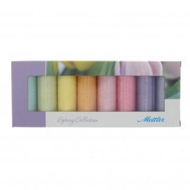 Set de 8 bobines de fil Silk finish Mettler - Spring collection