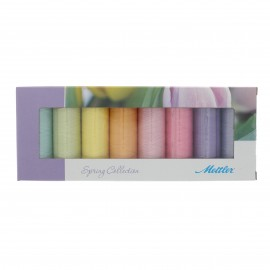 Set of 8 Mettler Silk finish thread reels - Spring collection