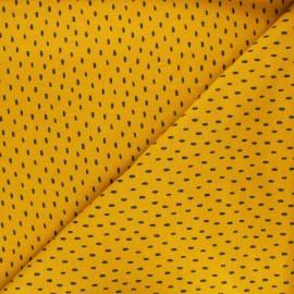 Poppy Sweatshirt cotton fabric - mustard yellow x 10cm