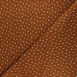 Poppy Sweatshirt cotton fabric - brown Stripes x 10cm