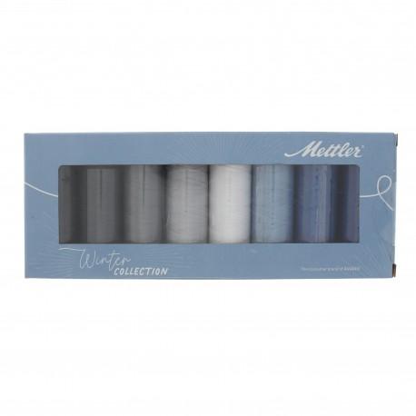 Set de 8 bobines de fil Silk finish Mettler - Winter collection