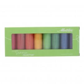 Set of 8 Mettler Silk finish thread reels - Summer collection