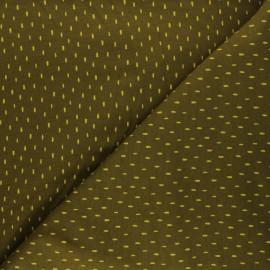 Poppy Sweatshirt cotton fabric - khaki x 10cm