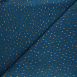 Tissu sweat Poppy Stripes - bleu x 10cm