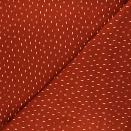 Poppy Sweatshirt cotton fabric - rust red x 10cm