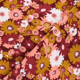 Tissu sweat Poppy Stripes - framboise x 10cm