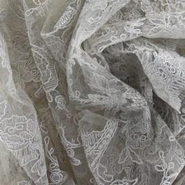 Annabelle Lace Fabric - Beige x 10cm