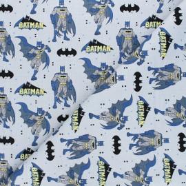 Tissu coton Justice league Batman - gris x 10 cm