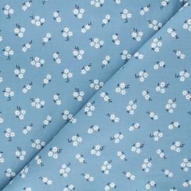 Tissu velours milleraies Poppy Small flowers - moutarde x 10cm
