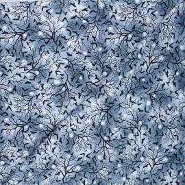 Cotton fabric Spooky night - grey Bats x 10cm