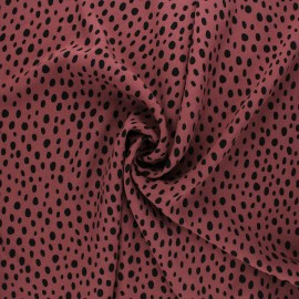 Radiance by Penelope® viscose fabric - fig pink Zeta x 10cm