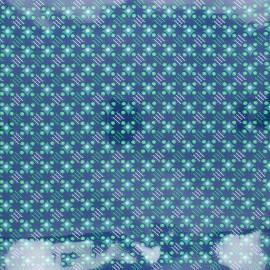 Tissu coton enduit Petit Pan Satellite of love - deep blue x 10cm
