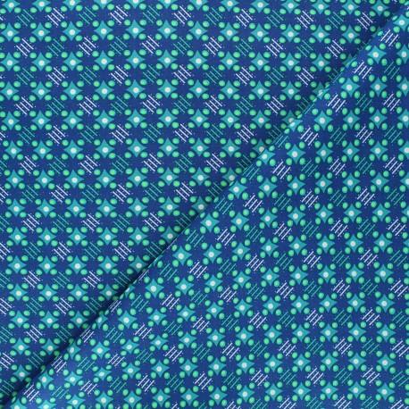 Petit Pan cotton fabric - deep blue Satellite of love x 10cm