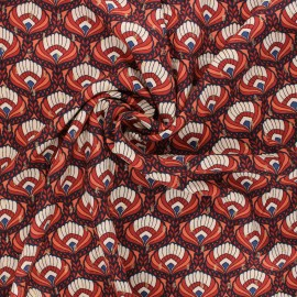 Lurex plumetis viscose fabric by Penelope® - ochre Bindaya x 10cm