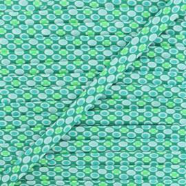 Biais Petit Pan 20 mm Django - vert boréal x 1m