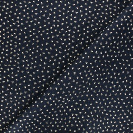 Elastane gabardine fabric By Penelope® - midnight blue Tikkama x 10cm