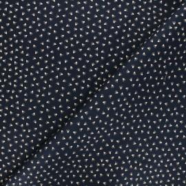Tissu gabardine élasthanne Tikkama by Penelope® - bleu nuit x 10cm