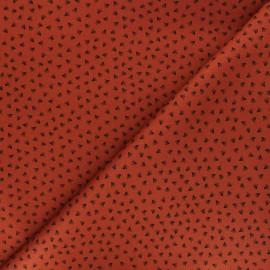 Tissu gabardine élasthanne Tikkama by Penelope® - roux x 10cm