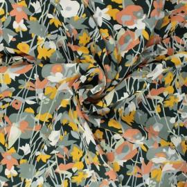 Twill viscose fabric - dark green Flowy x 10 cm