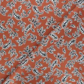 Elastane gabardine fabric By Penelope® - ginger red Tikkama x 10cm