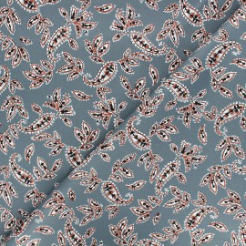 Elastane gabardine fabric By Penelope® - grey Paislig x 10cm
