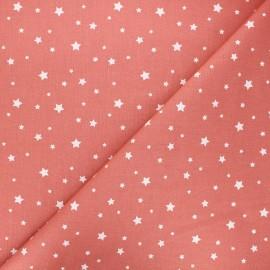 Tissu coton cretonne Zetoile - marsala x 10cm