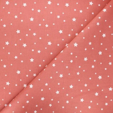 Cretonne cotton fabric - marsala Zetoile x 10cm