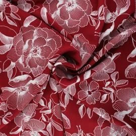 Viscose fabric - burgundy Ela x 10cm