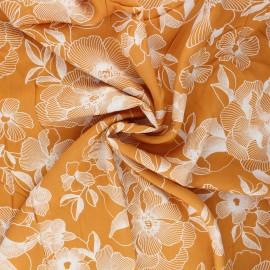 Viscose fabric - yellow Ela x 10cm