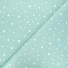 Tissu coton cretonne Zétoile - vert d'eau x 10cm