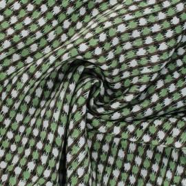 Satin viscose fabric - green Rizi x 10cm