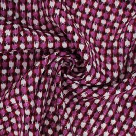 Satin viscose fabric - purple Rizi x 10cm