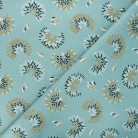 Cretonne cotton fabric - teal blue Roami x 10cm