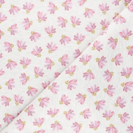Tissu sweat Poppy Fantasy Flowers - écru chiné x 10cm